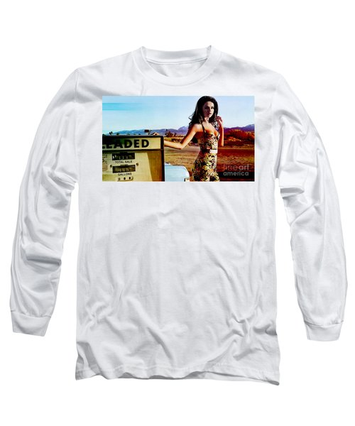 Long Sleeve T-Shirt featuring the digital art Selena Gomez  by Marvin Blaine
