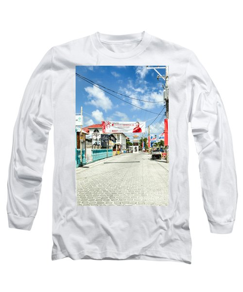 Street Scene Of San Pedro Long Sleeve T-Shirt by Lawrence Burry
