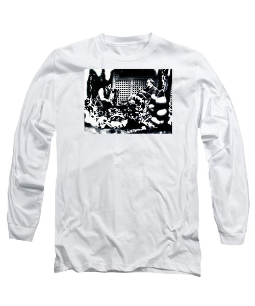 Long Sleeve T-Shirt featuring the painting The Godfather by Luis Ludzska