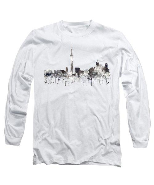 Toronto Ont.skyline Long Sleeve T-Shirt by Marlene Watson