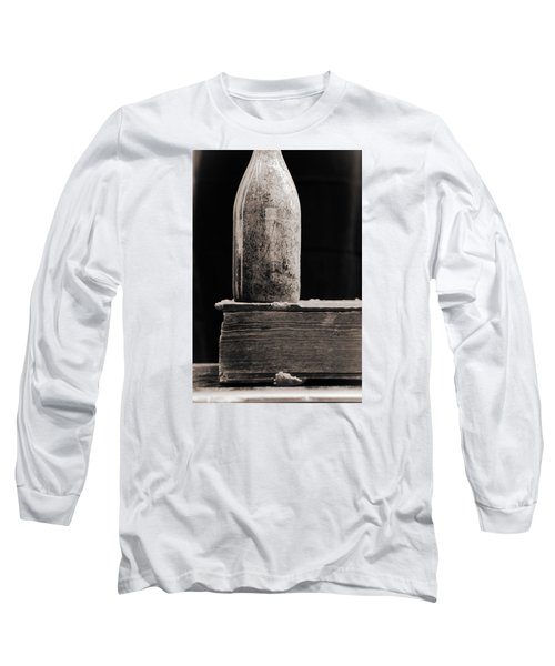 Long Sleeve T-Shirt featuring the photograph Vintage Beer Bottle #00803 by Andrey  Godyaykin
