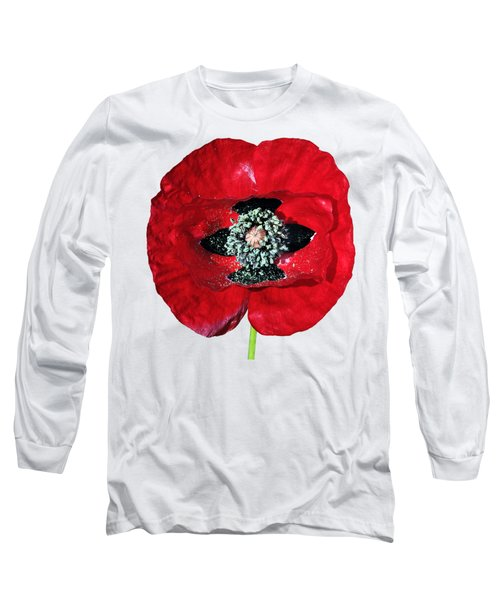 Long Sleeve T-Shirt featuring the photograph Poppy Flower by George Atsametakis
