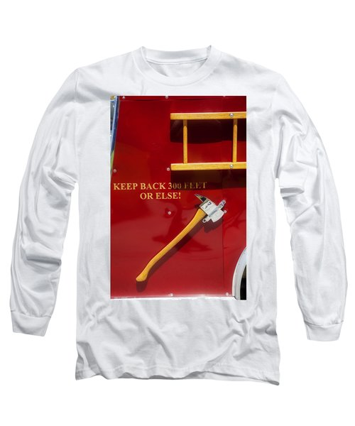 Long Sleeve T-Shirt featuring the photograph Fire Truck Caution by Toni Hopper