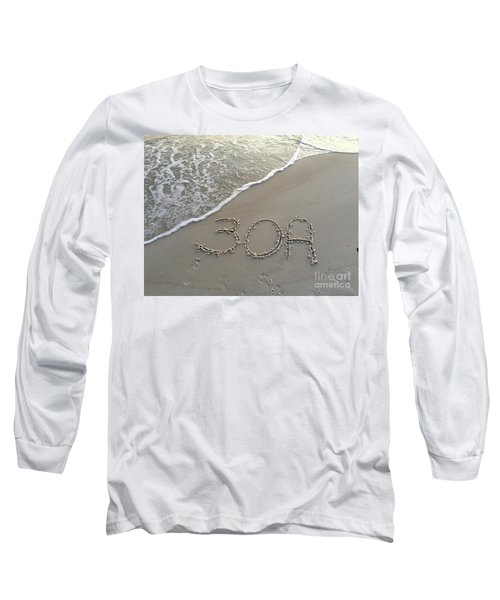 30a Beach Long Sleeve T-Shirt by Megan Cohen
