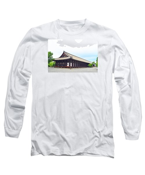 Long Sleeve T-Shirt featuring the digital art 33 Sanjusangendo 2 by Eva Kaufman