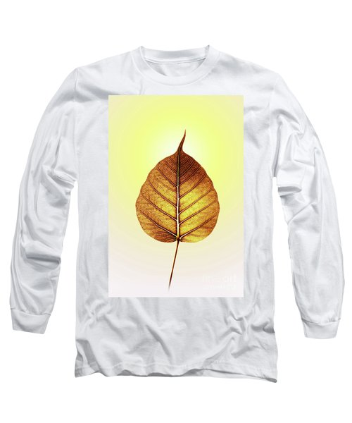 Long Sleeve T-Shirt featuring the photograph Pho Or Bodhi by Atiketta Sangasaeng
