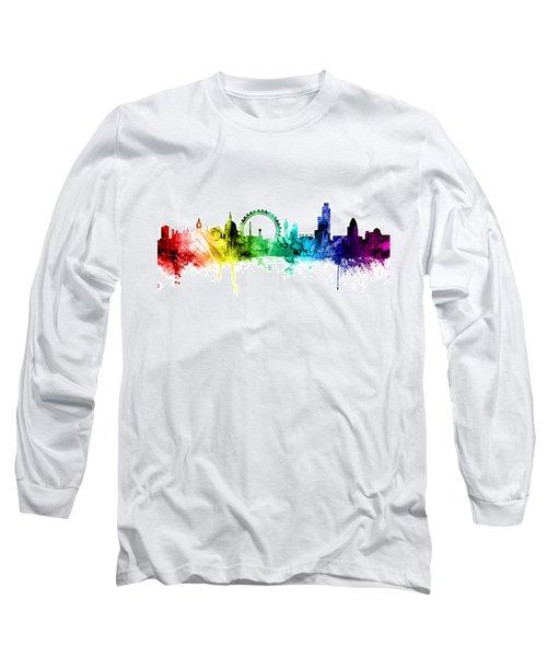 London England Skyline Long Sleeve T-Shirt