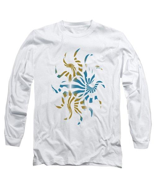 3d Spiral Pattern Long Sleeve T-Shirt