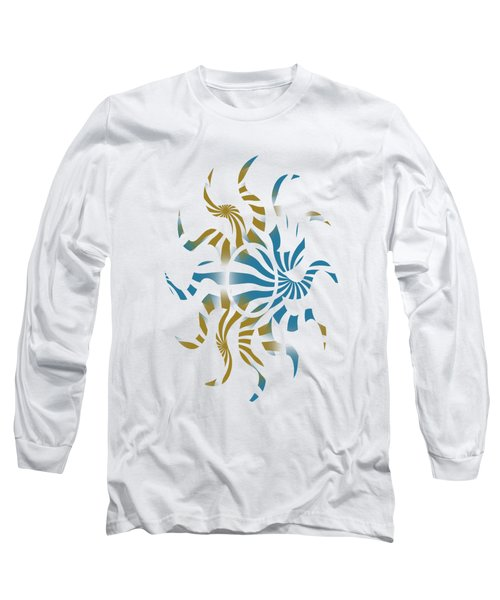 3d Spiral Pattern Long Sleeve T-Shirt