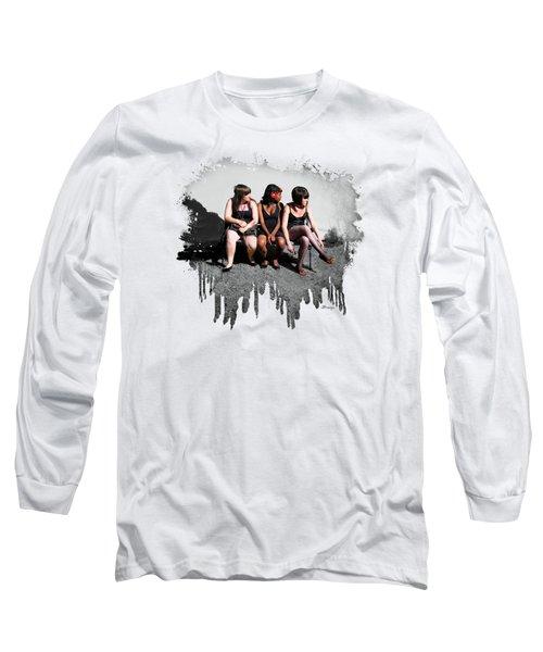3's  Company Long Sleeve T-Shirt by Jennie Breeze