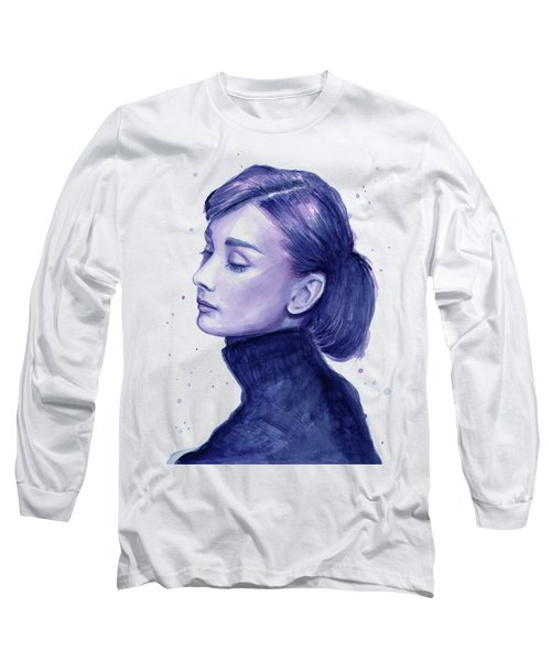 Audrey Hepburn Portrait Long Sleeve T-Shirt
