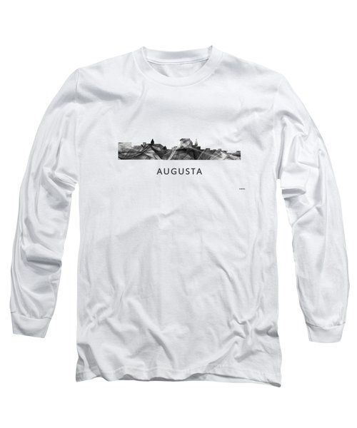 Augusta Maine Skyline Long Sleeve T-Shirt