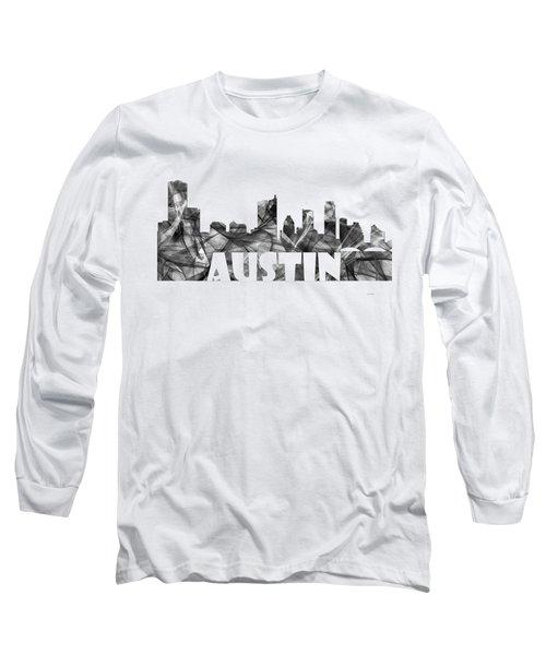 Austin Texas Skyline Long Sleeve T-Shirt