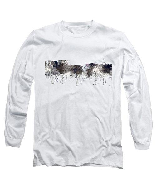 Canberra  Australia Skyline  Long Sleeve T-Shirt