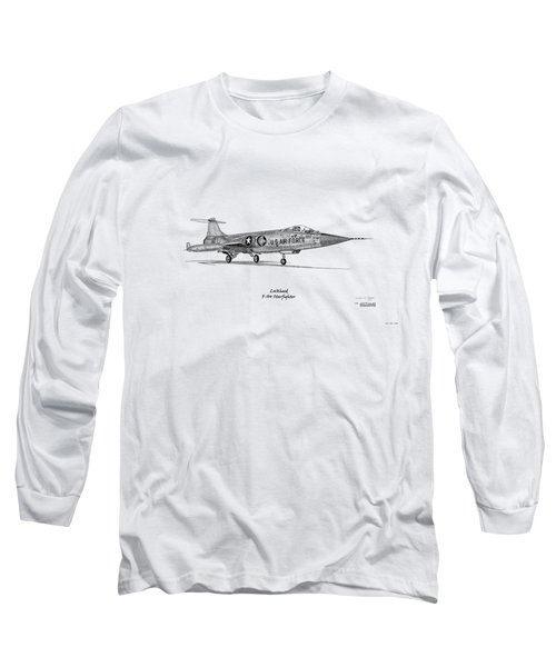 Lockheed F-104 Starfighter Long Sleeve T-Shirt by Arthur Eggers