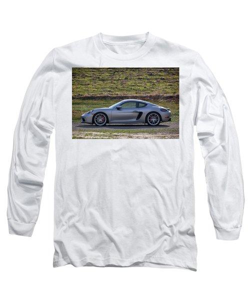 Long Sleeve T-Shirt featuring the photograph #porsche #718cayman S #print by ItzKirb Photography