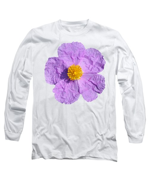 Long Sleeve T-Shirt featuring the photograph Rockrose Flower by George Atsametakis