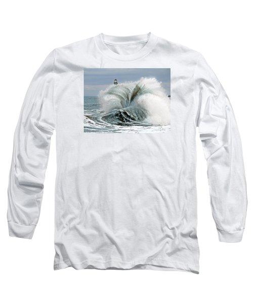 Roker Pier Sunderland Long Sleeve T-Shirt by Morag Bates