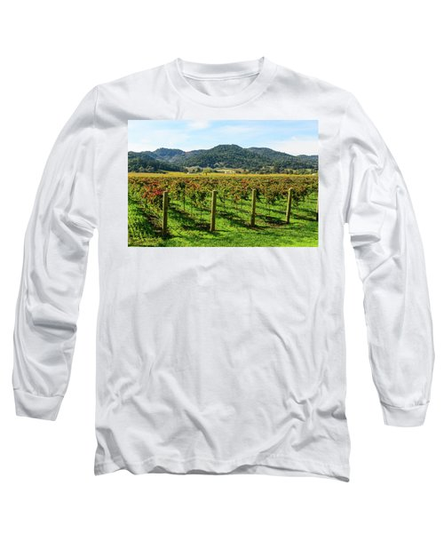 Rows Of Grapevines In Napa Valley California Long Sleeve T-Shirt
