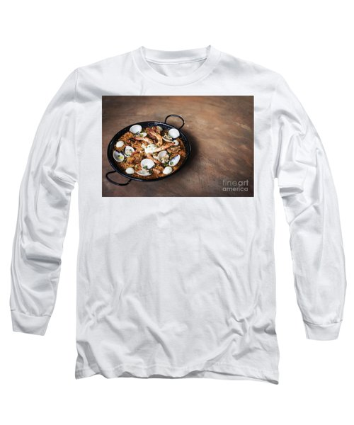 Seafood And Rice Paella Traditional Spanish Food Long Sleeve T-Shirt