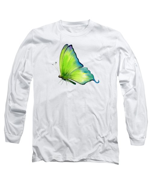 4 Skip Green Butterfly Long Sleeve T-Shirt