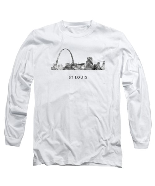 St Louis Missouri Skyline Long Sleeve T-Shirt by Marlene Watson