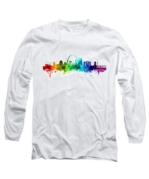 St Louis Missouri Skyline Long Sleeve T-Shirt