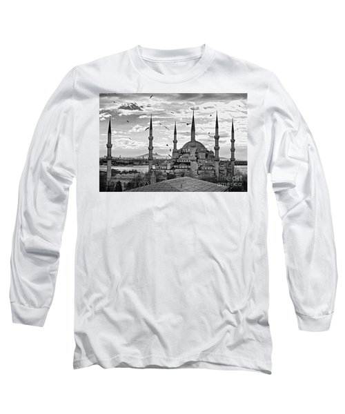The Blue Mosque - Istanbul Long Sleeve T-Shirt by Luciano Mortula