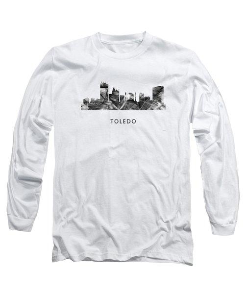 Toledo Ohio Skyline Long Sleeve T-Shirt by Marlene Watson