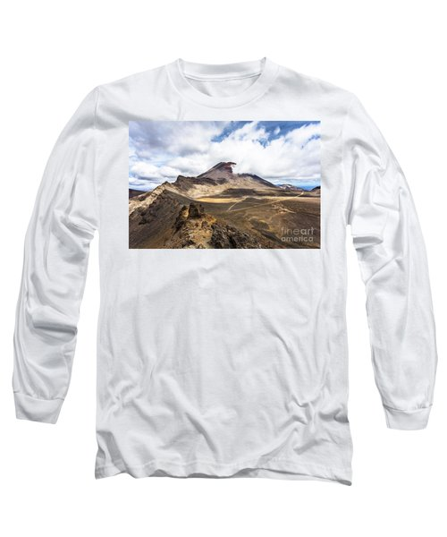 Tongariro Alpine Crossing In New Zealand Long Sleeve T-Shirt