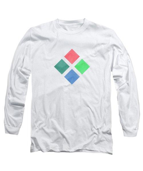 Watercolor Geometric Background Long Sleeve T-Shirt