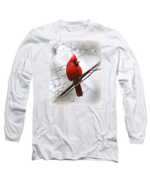 4772-001 - Northern Cardinal Long Sleeve T-Shirt by Travis Truelove