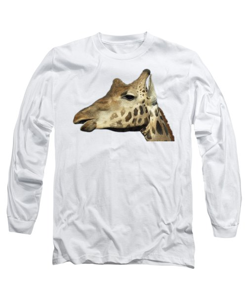 Long Sleeve T-Shirt featuring the photograph Baringo Giraffe by George Atsametakis