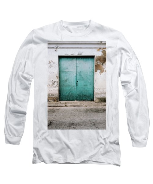 Long Sleeve T-Shirt featuring the photograph Door With No Number by Marco Oliveira
