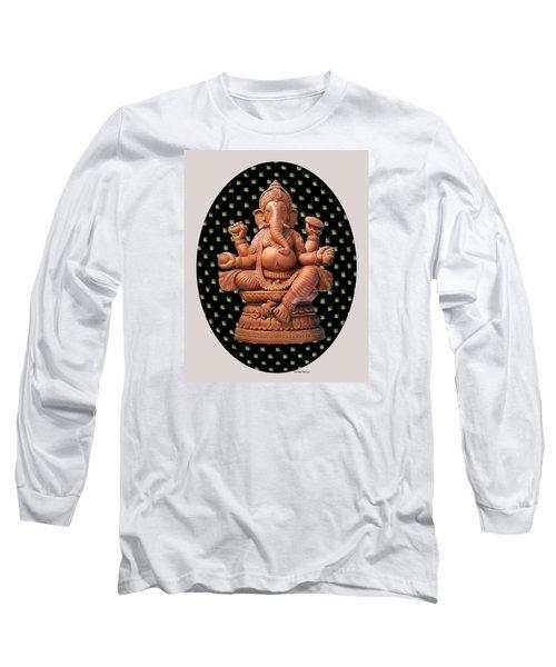 Ganesha Long Sleeve T-Shirt by Suhas Tavkar