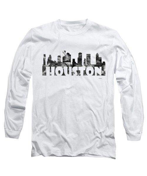 Houston Texas Skyline Long Sleeve T-Shirt
