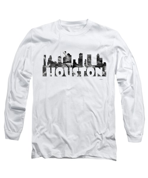 Houston Texas Skyline Long Sleeve T-Shirt
