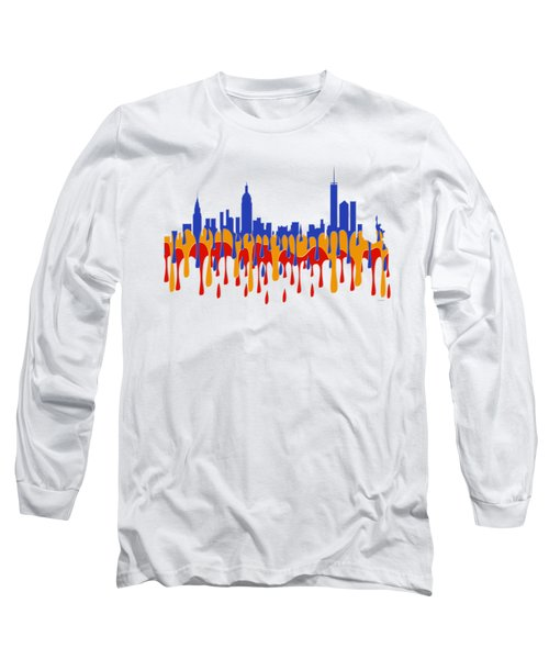 New York Ny Skyline Long Sleeve T-Shirt
