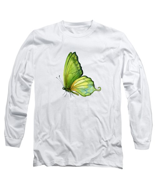 5 Sap Green Butterfly Long Sleeve T-Shirt by Amy Kirkpatrick