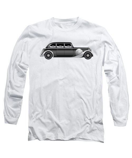 Long Sleeve T-Shirt featuring the digital art Sedan - Vintage Model Of Car by Michal Boubin