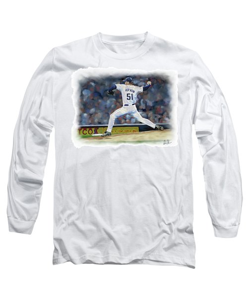 Long Sleeve T-Shirt featuring the photograph Trevor Hoffman by Don Olea