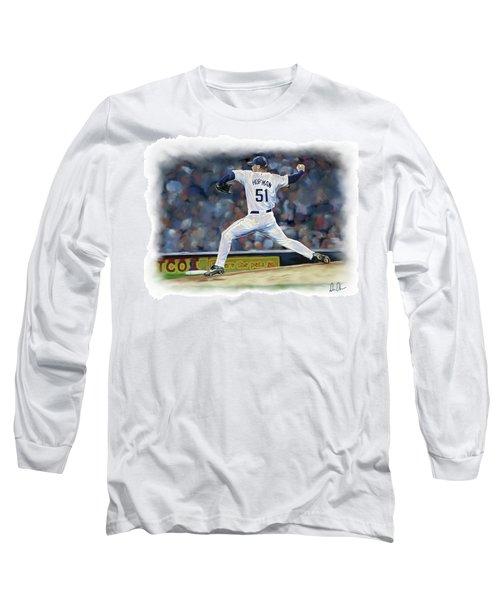 Trevor Hoffman Long Sleeve T-Shirt by Don Olea