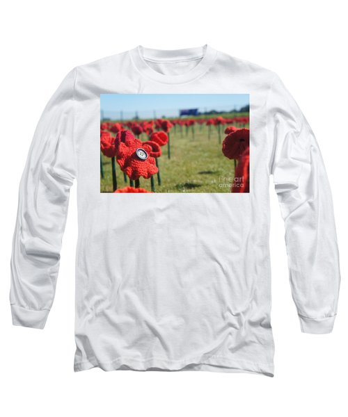 5000 Poppies Long Sleeve T-Shirt by Therese Alcorn