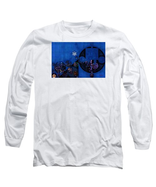 Long Sleeve T-Shirt featuring the digital art Abstract Painting - Onyx by Vitaliy Gladkiy
