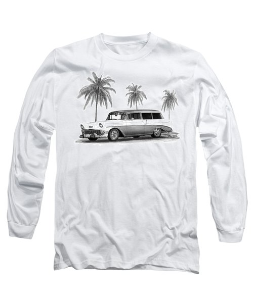 56 Chevy Wagon Long Sleeve T-Shirt
