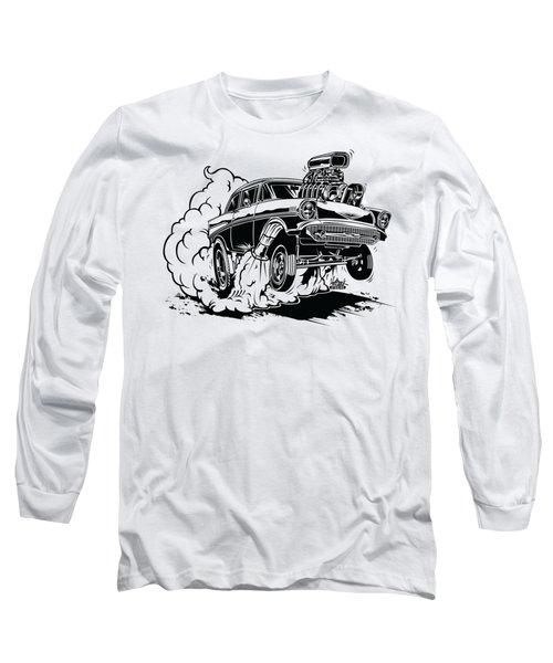 '57 Gasser Cartoon Long Sleeve T-Shirt