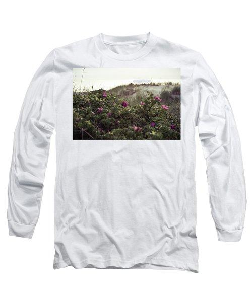 Rose Bush And Dunes Long Sleeve T-Shirt