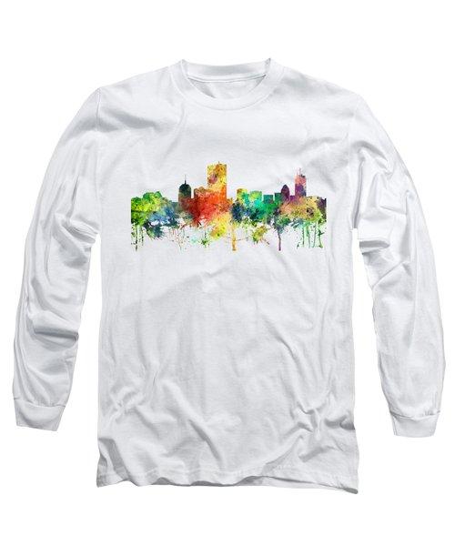 Boston Massachusetts Skyline Long Sleeve T-Shirt