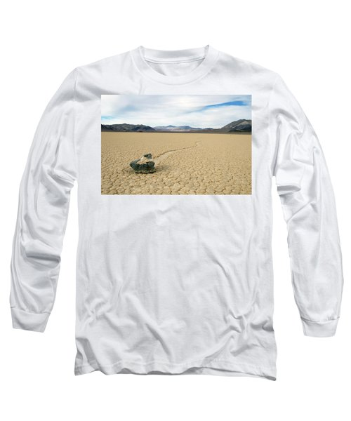 Long Sleeve T-Shirt featuring the photograph Death Valley Racetrack by Breck Bartholomew