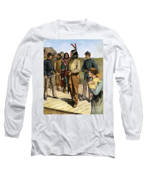 Geronimo 1829-1909.  To License For Professional Use Visit Granger.com Long Sleeve T-Shirt